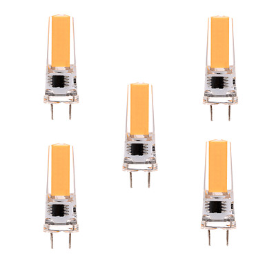 YWXLIGHT® 5pcs 5W 350-450 lm G8 LED Bi-pin 조명 T 1 LED가 COB 밝기조절가능 장식 따뜻한 화이트 차가운 화이트 AC 110-130V AC 220-240V