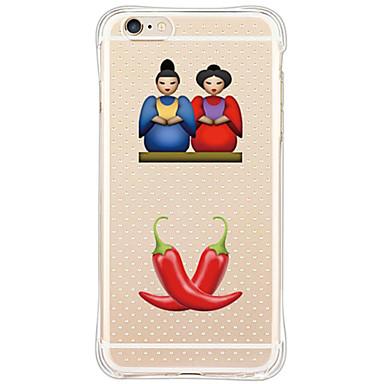 용 아이폰6케이스 / 아이폰6플러스 케이스 충격방지 / 방진 케이스 뒷면 커버 케이스 카툰 소프트 TPU Apple iPhone 6s Plus/6 Plus / iPhone 6s/6 / iPhone SE/5s/5