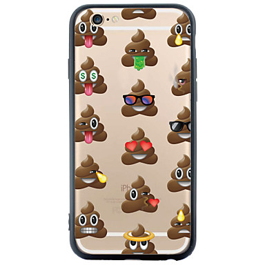 Mert iPhone 6 tok / iPhone 6 Plus tok Átlátszó / Minta Case Hátlap Case Rajzfilmfigura Puha TPU AppleiPhone 6s Plus/6 Plus / iPhone 6s/6