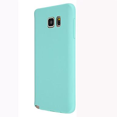 voordelige Galaxy Note 5 Hoesjes / covers-hoesje Voor Samsung Galaxy Note 5 / Note 4 / Note 3 Achterkant Effen TPU