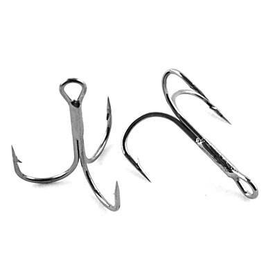 ieftine Cârlige Pescuit-Pescuit-10pcs buc Negru / Argintiu Oțel Carbonat-Anmuka Pescuit mare / Pescuit la Copcă / Pescuit de Apă Dulce / Pescuit în General