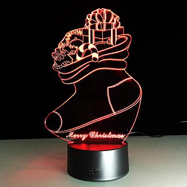 1 개 터치 3 일 화려한 비전 램프 선물 분위기 책상 램프 변화 컬러 야간 조명을 주도