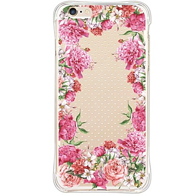 Mert iPhone 6 tok / iPhone 6 Plus tok Vízálló / Ütésálló / Porálló / Átlátszó Case Hátlap Case Virág Puha TPU AppleiPhone 6s Plus/6 Plus