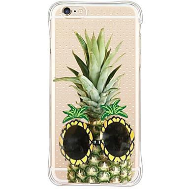 Mert iPhone 6 tok / iPhone 6 Plus tok Vízálló / Ütésálló / Porálló / Átlátszó Case Hátlap Case Gyümölcs Puha TPU AppleiPhone 6s Plus/6