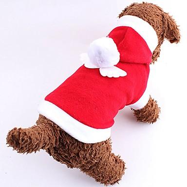 고양이 강아지 코스츔 후드 강아지 의류 귀여운 코스프레 크리스마스 새해 솔리드 레드 핑크