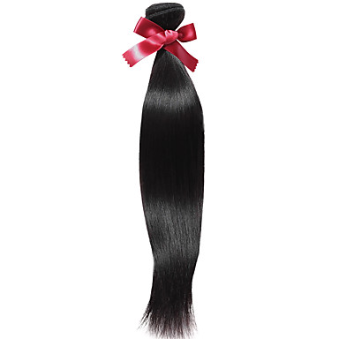 Βραζιλιάνικη Ίσιο Υφάνσεις ανθρώπινα μαλλιών 1 Τεμάχιο Υφάνσεις ανθρώπινα μαλλιών
