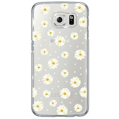 Case Kompatibilitás Samsung Galaxy Samsung Galaxy S7 Edge Átlátszó Minta Fekete tok Virág Puha TPU mert S7 edge S7 S6 edge plus S6 edge