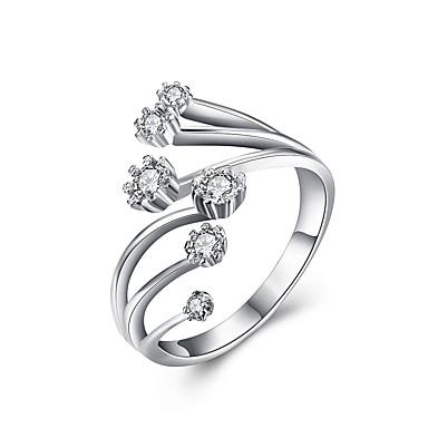 Női Bájos Ezüst Nyilatkozat gyűrű - Party / Munkahelyi / Szexi Ezüst Gyűrű Kompatibilitás Esküvő / Parti / Napi