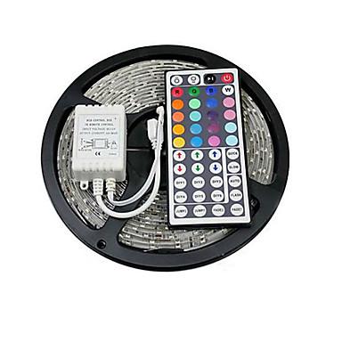 조명 세트 150 LED RGB 리모콘 컷테이블 색상-변화 접착성이 있는 연결가능 DC 12V DC 12