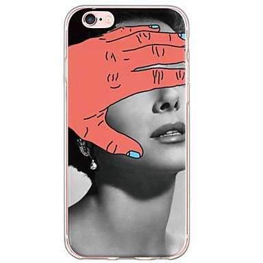 용 아이폰6케이스 / 아이폰6플러스 케이스 울트라 씬 / 반투명 케이스 뒷면 커버 케이스 섹시 레이디 소프트 TPU Apple iPhone 6s Plus/6 Plus / iPhone 6s/6 / iPhone SE/5s/5