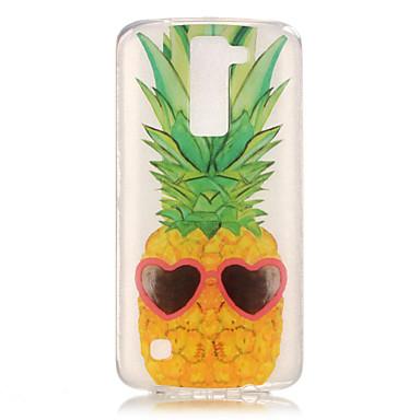 Case Kompatibilitás LG K8 LG LG K4 LG K10 LG K7 LG tok IMD Átlátszó Minta Fekete tok Gyümölcs Puha TPU mert