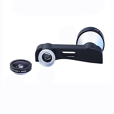 Apexel 3-in-1 180 Degree Fish Eye Lens + 10X Macro Lens and 5X Super Telephoto Lens Phone Camera Lens Kit for iPhone 6