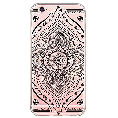 Mert iPhone 6 tok / iPhone 6 Plus tok Ultra-vékeny / Áttetsző Case Hátlap Case Mandala Puha TPU AppleiPhone 6s Plus/6 Plus / iPhone 6s/6
