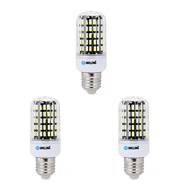 BRELONG® 3pcs 7W 650lm E14 E26 / E27 B22 LED Corn Lights B 108 LED Beads SMD 5733 Decorative Warm White Cold White 200-240V 220-240V