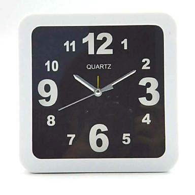 (Szín minta véletlenszerű) szögletes és kerek és fekete-fehér egyszerű ébresztőóra hallgató asztali asztali óra