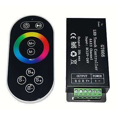 rf Remote Touch RGB vezérlő dc12-24v max 18a
