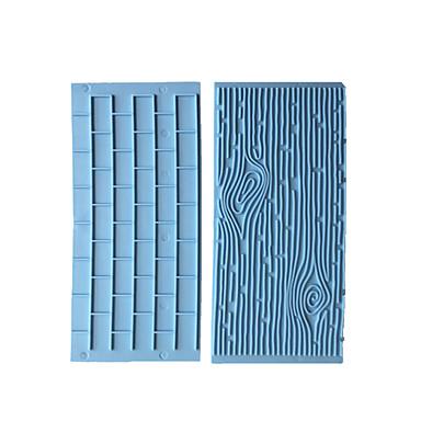 ieftine Ustensile & Gadget-uri de Copt-2pcs coajă de copac cărămidă perete tort mucegai silicon fondant mucegai diy tort decorare instrument