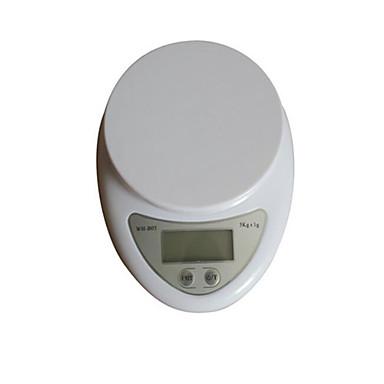 ultravékony konyha elektronikus mérleg (mérési tartomány: 5 kg-1g, skála lemez)