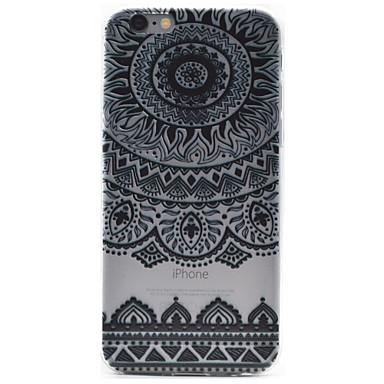 Mert iPhone 6 tok / iPhone 6 Plus tok Minta Case Hátlap Case Virág Puha TPU AppleiPhone 7 Plus / iPhone 7 / iPhone 6s Plus/6 Plus /
