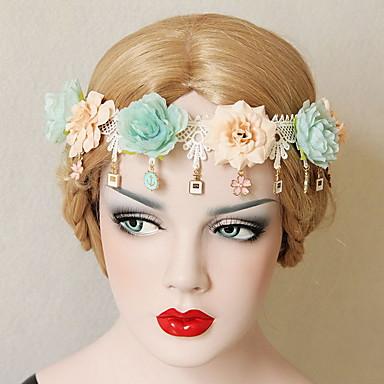 virág bohemia szép rózsa virág koszorúk fejpánt hölgy lakodalom ünnep haj ékszerek