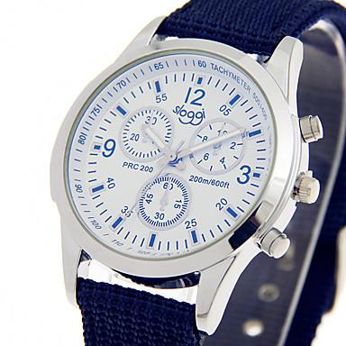 남성용 손목 시계 캐쥬얼 시계 / 멋진 섬유 밴드 캐쥬얼 블랙 / 블루 / 그린