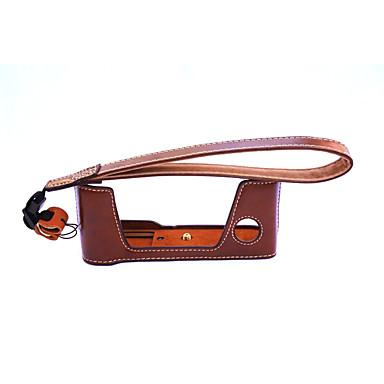 한국 후지 필름 X-PRO2의 xpro2에 대한 dengpin® PU 가죽 하프 카메라 케이스 가방 커버베이스 (모듬 색상)