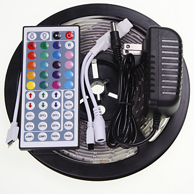 SENCART 5m RGB Controllers 300 LEDs 5630 SMD RGB Remote Control / RC / Cuttable / Waterproof 100-240 V / Linkable / Suitable for Vehicles / Self-adhesive / Color-Changing