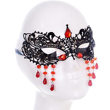 Lace Mask 1 개 휴일 장식 파티 마스크 멋진 / 패션 원사이즈 블랙 레이스