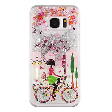 Mert Samsung Galaxy S7 Edge Folyékony / Átlátszó / Minta Case Hátlap Case Szexi lány Kemény PC Samsung S7 edge / S7