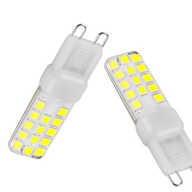 G9 LED betűzős izzók T 28 LED SMD 2835 Tompítható Vízálló Dekoratív Meleg fehér Hideg fehér Természetes fehér 350-450lm 3000-6500K AC