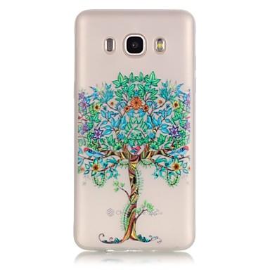 Mert Samsung Galaxy tok Foszforeszkáló / Átlátszó Case Hátlap Case Fa Puha TPU SamsungJ7 (2016) / J5 (2016) / J3 (2016) / J1 (2016) /