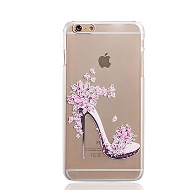 schoenen met hoge hakken patroon TPU hulp dunne transparante diamant plakken Cover Case voor iPhone 6s plus / 6 plus