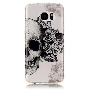 Mert Samsung Galaxy S7 Edge Átlátszó / Minta Case Hátlap Case Koponya Puha TPU Samsung S7 edge / S7 / S6 edge / S6 / S5