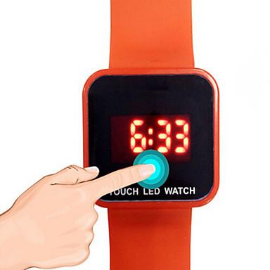 남성용 아동 스포츠 시계 패션 시계 디지털 시계 디지털 LED 야광 고무 밴드 캐쥬얼 블랙 화이트 블루 레드 그린