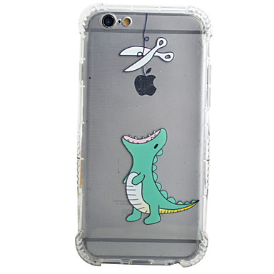 Кейс для Назначение Apple iPhone X iPhone 8 Plus iPhone 6 iPhone 6 Plus Защита от удара Кейс на заднюю панель Композиция с логотипом Apple