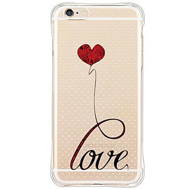 Mert iPhone 6 tok / iPhone 6 Plus tok Ütésálló / Porálló / Minta Case Hátlap Case Szív Puha TPU AppleiPhone 6s Plus/6 Plus / iPhone 6s/6