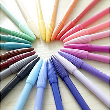 마커 & 하이 라이터 워터 컬러 펜,플라스틱 임의 색상