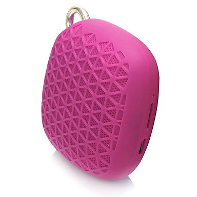 Szabadtéri Mini Hordozható Támogatott külső memóriakártya Bluetooth 2.1 3.5mm AUX USB Vezeték nélküli Bluetooth hangszóró Fekete Piros Kék