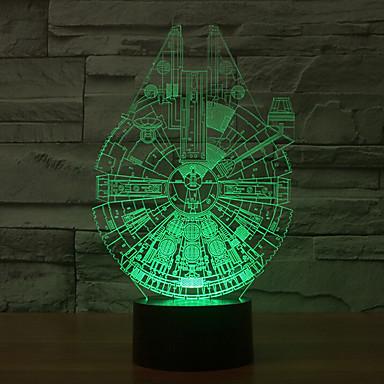 tysiąclecia falcon 3d led night light 7 kolorów dekoracji atmosfera lampa nowość oświetlenie światło