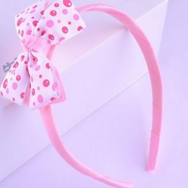 한국어 꽃 소녀의 패브릭 활 머리띠