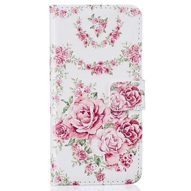 Mert Pénztárca / Kártyatartó / Állvánnyal / Flip / Minta Case Teljes védelem Case Virág Kemény Műbőr AppleiPhone 7 Plus / iPhone 7 /