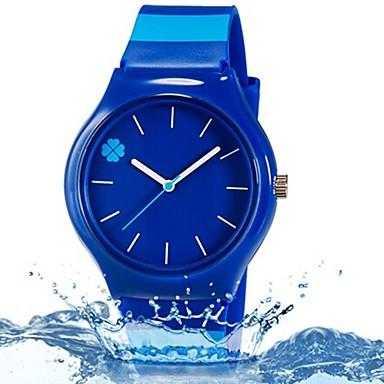 Недорогие Женские часы-Наручные часы Кварцевый Синий Cool Цветной Аналоговый Листья Конфеты На каждый день Полоски Мода - Темно-синий