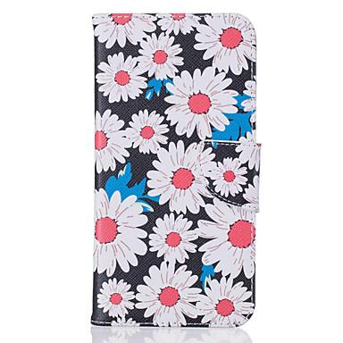 용 아이폰7케이스 / 아이폰7플러스 케이스 / 아이폰6케이스 카드 홀더 / 패턴 케이스 풀 바디 케이스 꽃장식 하드 인조 가죽 Apple아이폰 7 플러스 / 아이폰 (7) / iPhone 6s Plus/6 Plus / iPhone 6s/6 /