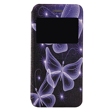 Mert iPhone 7 tok / iPhone 7 Plus tok Flip / Minta Case Teljes védelem Case Pillangó Kemény Műbőr Apple iPhone 7 Plus / iPhone 7
