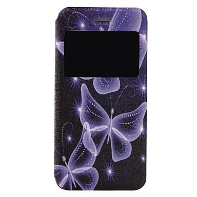 용 아이폰7케이스 / 아이폰7플러스 케이스 플립 / 패턴 케이스 풀 바디 케이스 버터플라이 하드 인조 가죽 Apple 아이폰 7 플러스 / 아이폰 (7)