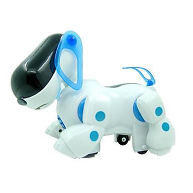 아이들을위한 기계 개에 불이 플라스틱 화이트 / 블루 음악 장난감