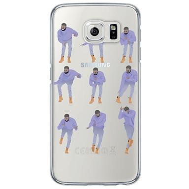 Mert Samsung Galaxy S7 Edge Ultra-vékeny / Áttetsző Case Hátlap Case Rajzfilmfigura Puha TPU SamsungS7 edge / S7 / S6 edge plus / S6 edge