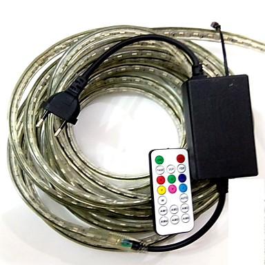 4m / 1PCS 유럽 연합 (EU) plugconnect IR 19key 컨트롤러 220-240V는 RGB 방수 램프 벨트 5050 밴드 정원 빛 RGB 빛 주도