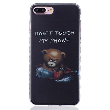 용 아이폰7케이스 / 아이폰7플러스 케이스 / 아이폰6케이스 패턴 케이스 뒷면 커버 케이스 동물 소프트 TPU Apple아이폰 7 플러스 / 아이폰 (7) / iPhone 6s Plus/6 Plus / iPhone 6s/6 / iPhone