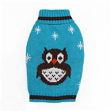 강아지 스웨터 강아지 의류 따뜻함 유지 카툰 오렌지 그린 블루 코스츔 애완 동물